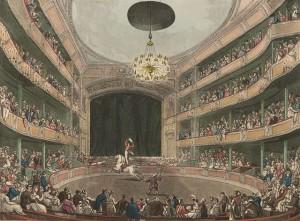 Astley's Amphitheatre in London circa 1808.