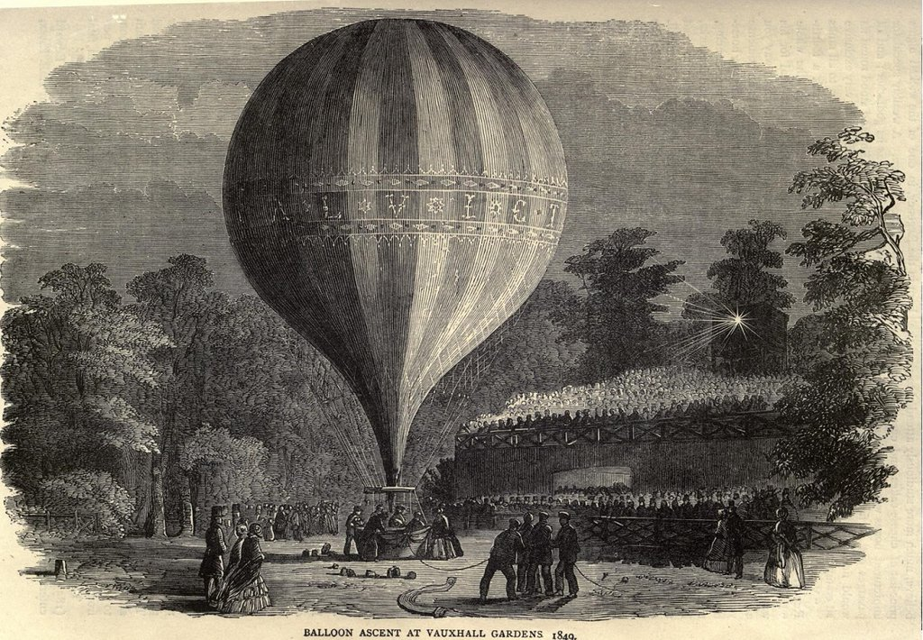 Balloons in Vauxhall Gardens, 1849