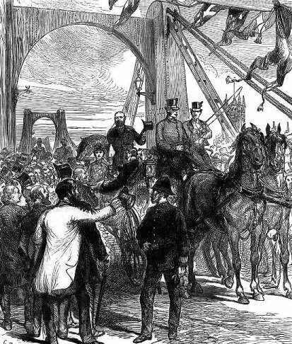 drawing of The opening of Lambeth Bridge