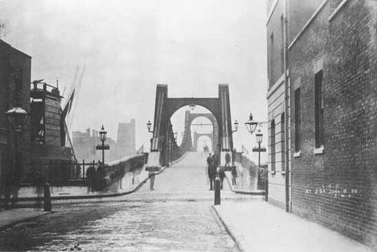 Lambeth Bridge from Millbank, 1896