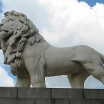 coade stone lion