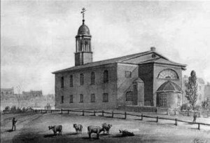 St Anne's Church, South Lambeth, c 1825, by G. Yates