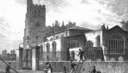 old drawing St Mary's, Lambeth