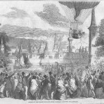 old engraving balloons in vauxhall gardens