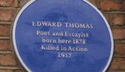 Edward Thomas blue plaque in Stockwell, South London