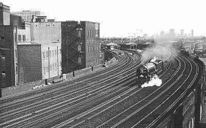 Blue Peter Train leaving Vauxhall, 1966