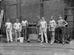 Boiler cleaners at the South Metropolitan Gas Works, South Lambeth