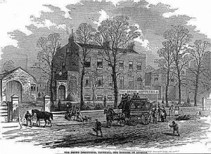The Brown Institute for Animals engraving