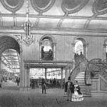 drawing of Canterbury Hall interior