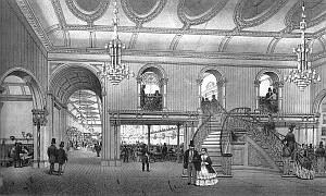 drawing of Canterbury Hall interior
