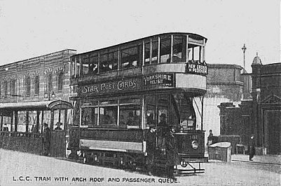 Car 186 at Blackfriars c1908