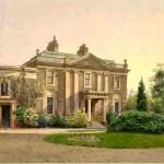 Carroun House, c 1887 painting