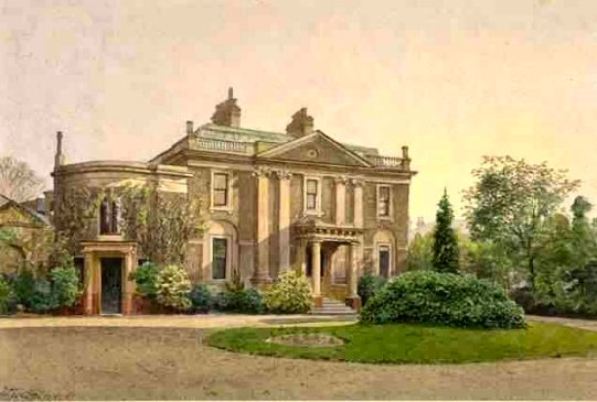 Carroun House, c 1887 painting