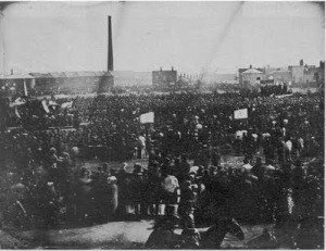 Rare photo of Kennington Chartist Meeting 4 April 1848