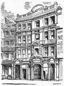 Gatti's Theatre (reproduced by kind permission of www.arthurlloyd.co.uk)