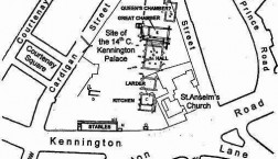 Site of Kennington Palace, london