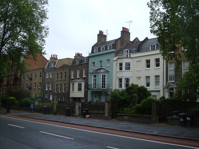 Kennington Road. The houses were built in the mid-18th century
