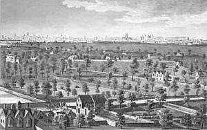 Lambeth Marsh, London in 1670