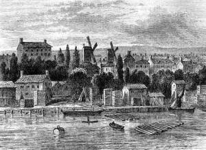 Old Windmills at Lambeth mid 18th century