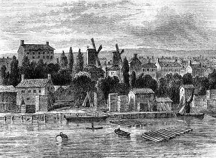 Old Windmills at Lambeth mid 18th century