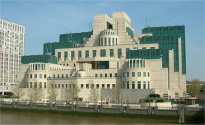 The MI6 building at Vauxhall