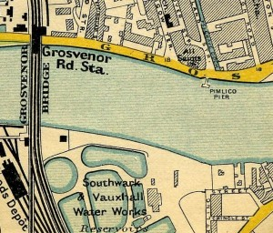 Southwark and Vauxhall Water Works Reservoirs, Vauxhall, 1897