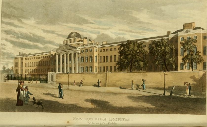 New Bethlem Hospital, 1817, from Ackermans Repository of Arts