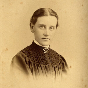 young victorian woman looking sombre
