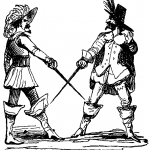 17th century men with swords