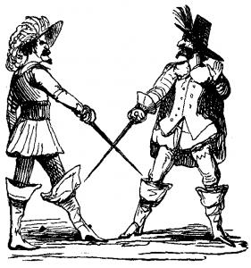 17th century men with swords