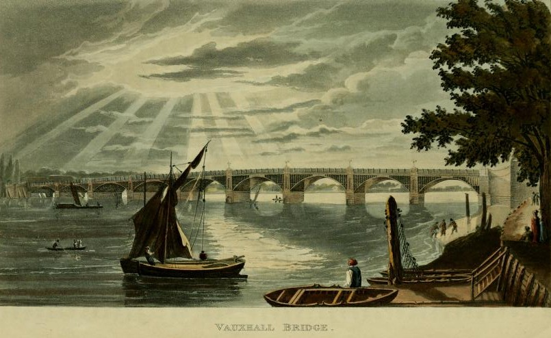 Vauxhall Bridge, from Ackermans Repository of the Arts