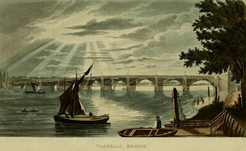 Vauxhall Bridge, from Ackermans Repository of the Arts