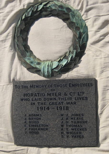 myer war memorial lambeth