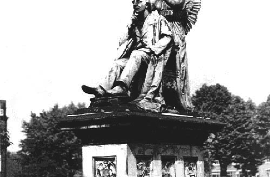 The Henry Fawcett Memorial situated in Vauxhall Park, by George Tinworth, 1893