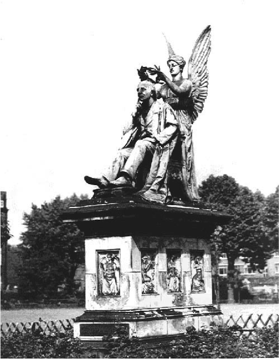 Fig. 2. The Henry Fawcett Memorial situated in Vauxhall Park, by George Tinworth, 1893