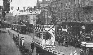 Opening of London County Council Electric Tramways 1903. Used with the permission of John Prentice and Tramway Information website