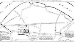 Plan of lands between Westminster and Blackfriars