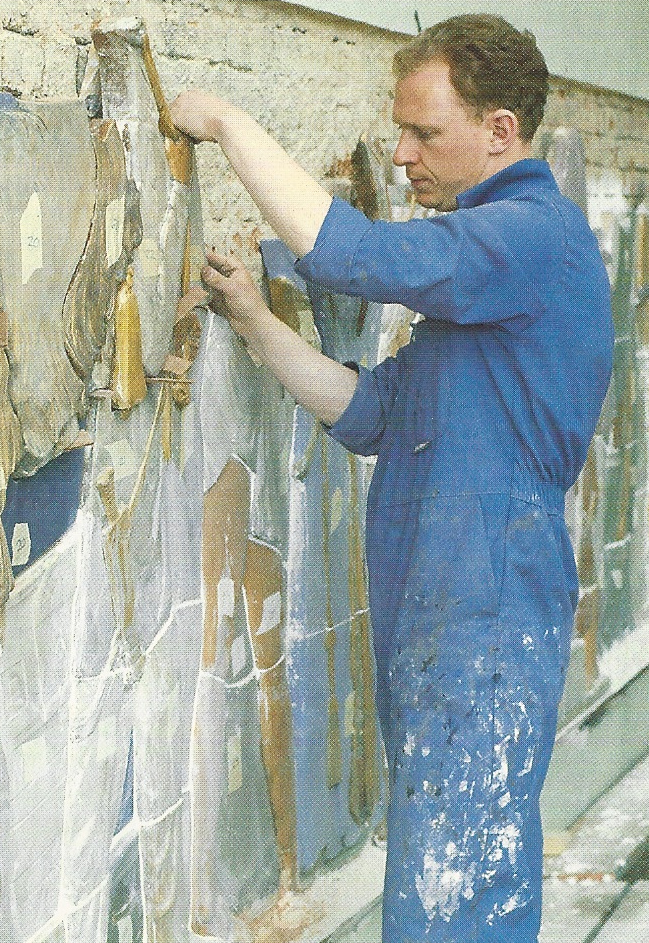 After restoration, Bayes' frieze is reassembled at the Victoria & Albert museum