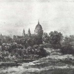 St Paul's from Lambeth Marsh, by Patrick Naysmith