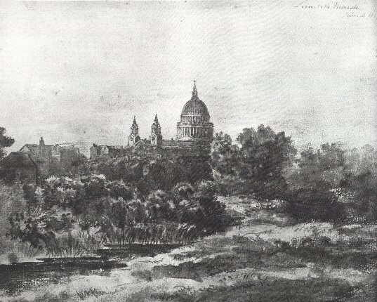 St Paul's from Lambeth Marsh, by Patrick Nasmyth