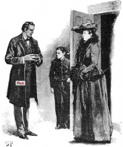 illustration of conan doyle's case of identity