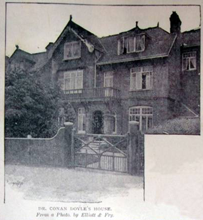 Conan Doyle's house 12 tennison road