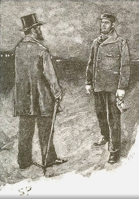 illustration of The Greek Interpreter by conan doyle