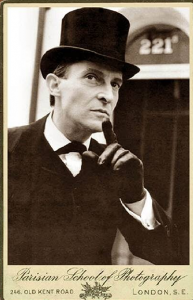 actor jeremy brett in a top hat