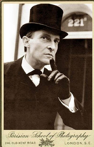 actor jeremy brett in a top hat