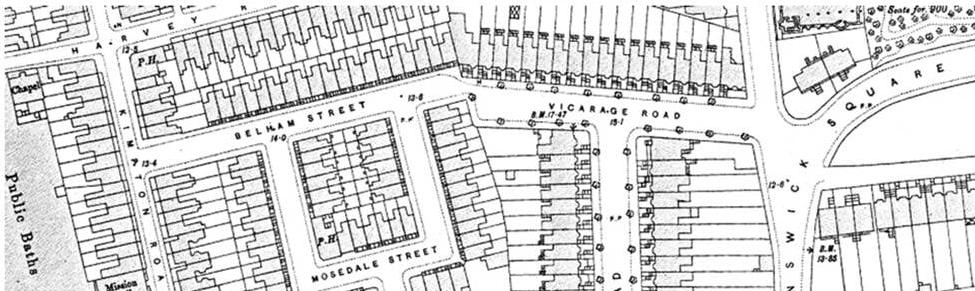 map of camberwell belham street mosedale street
