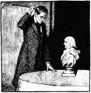 illustration of The Six Napoleons by Conan Doyle