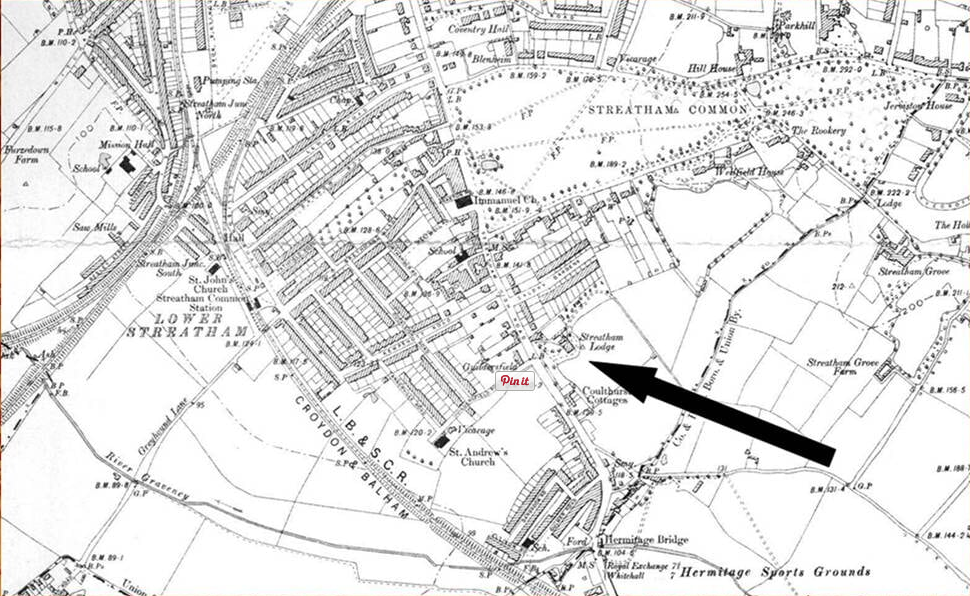 map showing streatham lodge