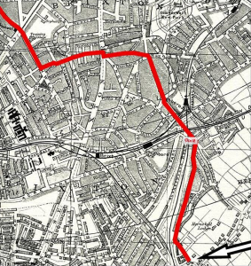 old map of south london