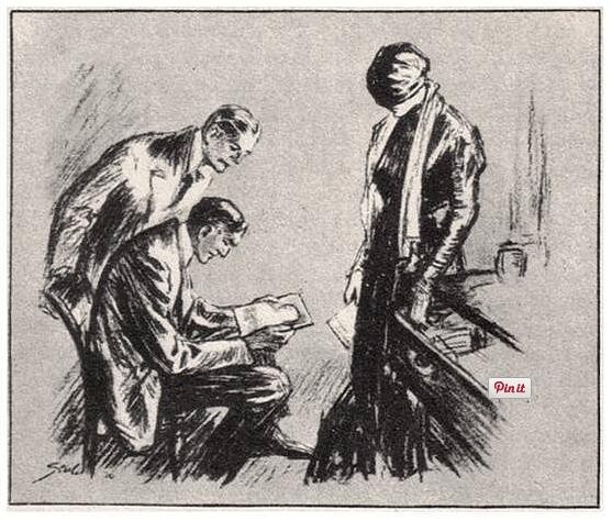 illustration for conan doyle's veiled lodger